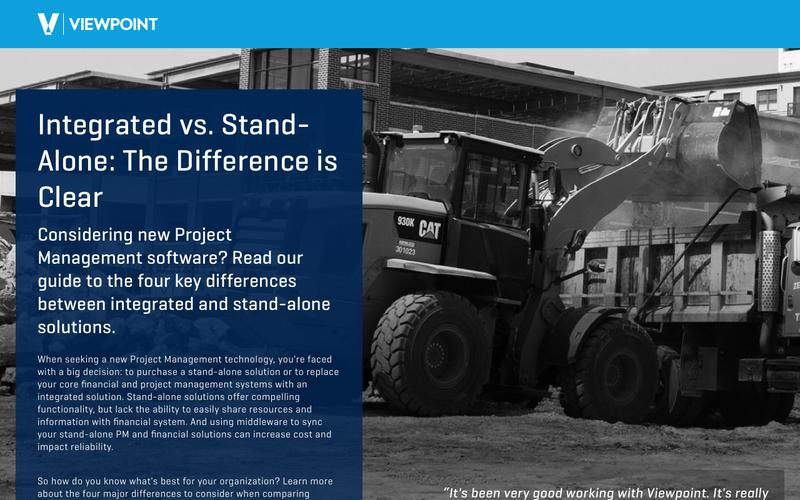 Integrated vs. Stand-Alone Project Management Systems:  The Difference is Clear