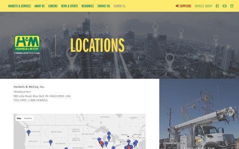 Screenshot of Locations Page henkels.com - Locations | Henkels & McCoy - captured Aug. 3, 2017