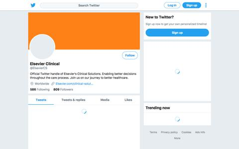 Tweets by Elsevier Clinical (@ElsevierCS) – Twitter