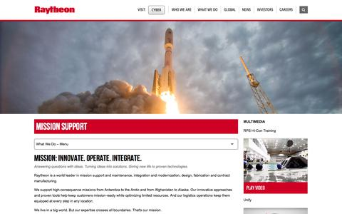 Raytheon: Mission Support