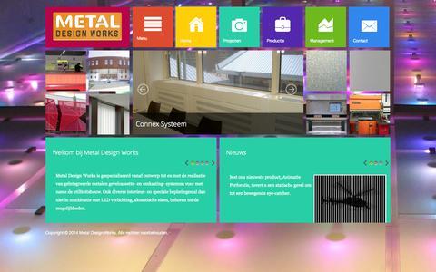 Screenshot of Home Page metaldesignworks.nl - Metal Design Works - Home - captured Oct. 11, 2014