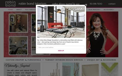 Screenshot of Home Page robinbondinteriors.com - Robin Bond Interiors | (512) 358-7200 | Austin, TX Interior Designer - captured Jan. 12, 2016
