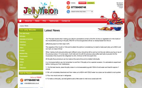 Screenshot of Press Page jellyvision.co.uk - News - captured June 8, 2017