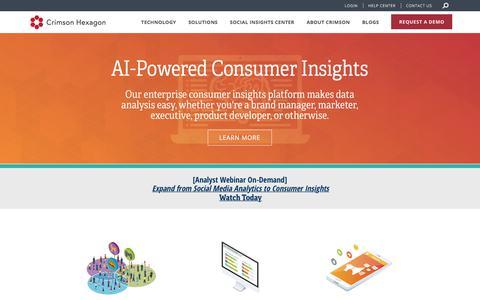 AI-Powered Consumer Insights Company | Crimson Hexagon