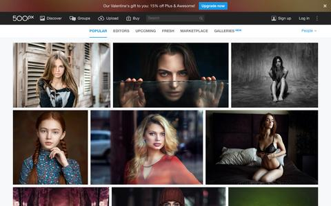 Screenshot of Team Page 500px.com - Most Popular People Photos on 500px Right Now - captured Feb. 15, 2016