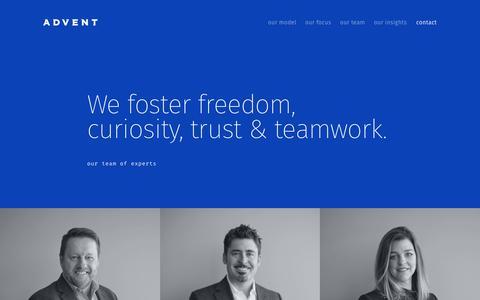 Screenshot of Team Page adventip.com - The ADVENT Team — ADVENT - captured Oct. 3, 2018