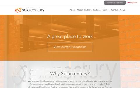 Screenshot of Jobs Page solarcentury.com - Careers - Solarcentury - captured Oct. 19, 2018