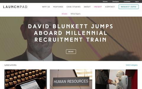 Screenshot of Blog launchpadrecruits.com - Candidate Assessment & Video Interview Tips for Employers | LaunchPad Insights - captured July 19, 2015