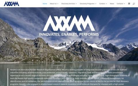 Screenshot of Home Page axxam.com - Home - AXXAM - captured Dec. 9, 2018