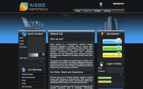 Screenshot of About Page webzinfotech.com - Web designing company Cochin, Kerala, India, Web development company Cochin, Kerala, India, SEO company Cochin, Kerala, India. - captured Oct. 9, 2014
