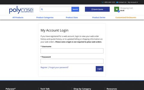 Screenshot of Login Page polycase.com - Account Sign-in - captured Sept. 28, 2018
