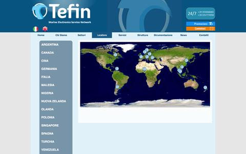 Screenshot of Locations Page tefin.it - Locations - Tefin - captured Feb. 24, 2016