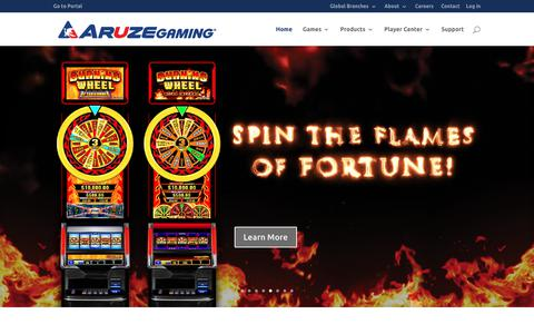Screenshot of Home Page aruzegaming.com - Home - Aruze Gaming Inc. - captured Oct. 8, 2017