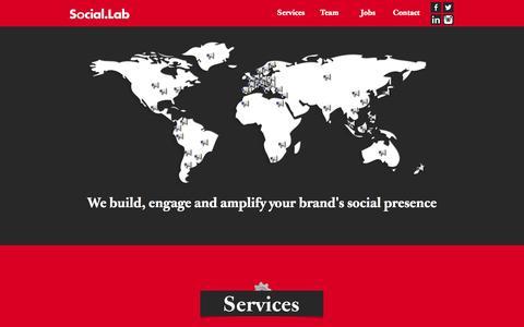 Screenshot of Home Page social-lab.eu - Social Lab - captured Jan. 26, 2015