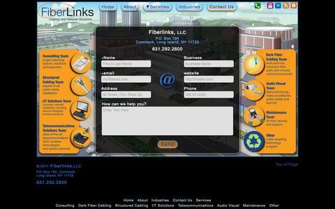 Screenshot of Contact Page fiberlinksllc.com - Fiberlinks - Contact Us - captured Sept. 30, 2014