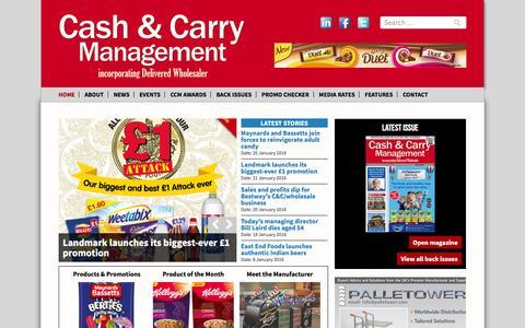 Screenshot of Home Page cashandcarrymanagement.co.uk - Cash & Carry Management Magazine incorporating Delivered Wholesaler - captured Jan. 26, 2016