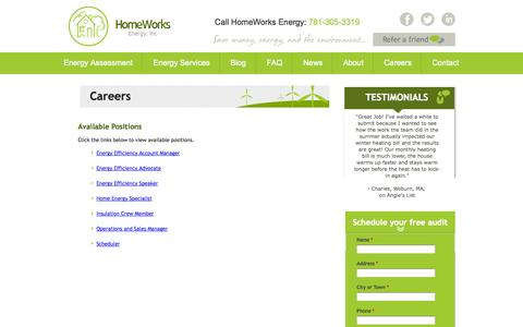 Screenshot of Jobs Page homeworksenergy.com - Careers | Homeworks Energy - captured Sept. 30, 2014