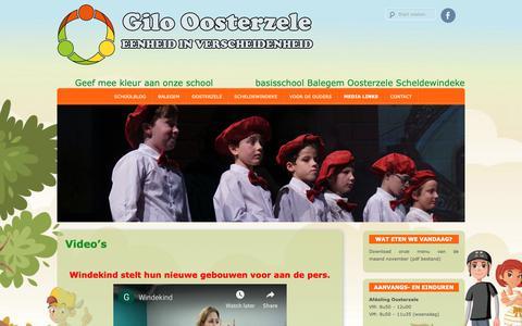 Screenshot of Press Page gbsoosterzele.be - Gilo Oosterzele » Video's - captured Nov. 27, 2018