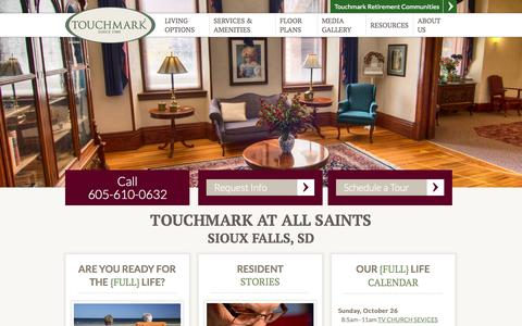 Screenshot of Signup Page touchmarksiouxfalls.com - Sioux Falls, SD Senior Living   Touchmark at All Saints Sioux Falls 57104 - captured Oct. 27, 2014