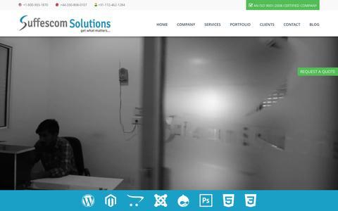 Screenshot of Home Page suffescom.com - Web Design | Web Development | Internet marketing | Mobile app development - captured Oct. 15, 2015