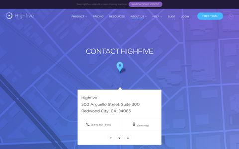 Contact Highfive - WeŐll Answer Your Video Meeting Questions