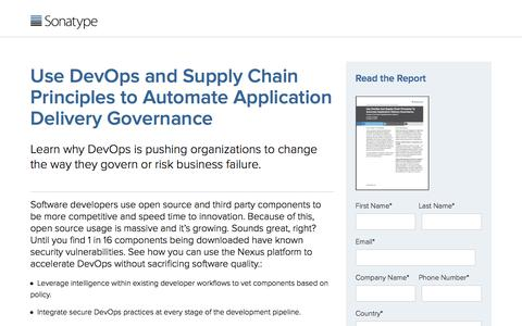 Forrester Research: Use DevOps And Supply Chain Principles To Automate Application Delivery Governance
