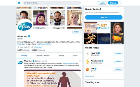 Tweets by Pfizer Inc. (@pfizer) – Twitter