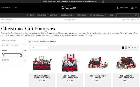 Chocolate Christmas Hampers for All by Hotel Chocolat