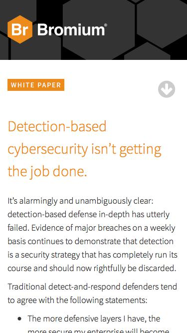 Bromium: White Paper - Securing the Modern Endpoint