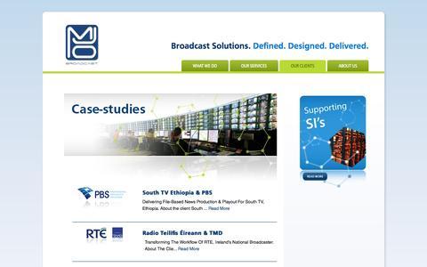 Screenshot of Case Studies Page mjobroadcast.com - Case-studies - MJO Broadcast - captured Sept. 30, 2014