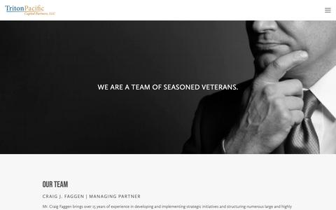 Screenshot of Team Page tritonpacific.com - Our Team — Triton Pacific - captured Feb. 15, 2019