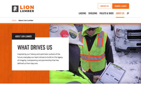 Screenshot of About Page lionlumber.com - About Lion Lumber - Lion Lumber - captured July 21, 2019