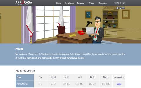 Screenshot of Pricing Page applicasa.com - Pay As You Go – Don't Worry About Spikes – Competitive Prices - captured Sept. 13, 2014