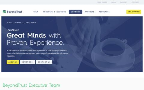 Screenshot of Team Page beyondtrust.com - BeyondTrust Management Team - Kevin Hickey and Team - captured Sept. 11, 2016