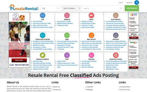 Screenshot of Home Page resalerental.com - Free Classified Ads Posting  –  Resale Rental - captured Sept. 20, 2018
