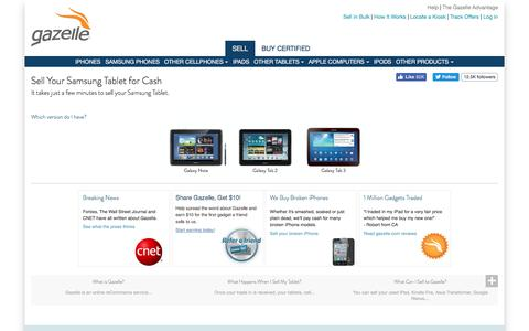 Sell Samsung Tablet and Samsung Tablet Trade In | Gazelle