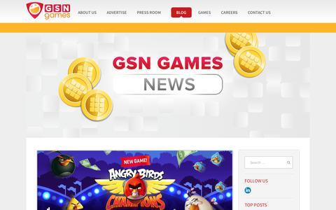 Screenshot of Blog gsngames.com - Blog - GSN Games - captured July 9, 2019