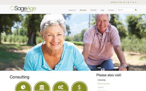 Screenshot of sageagestrategies.com - Consulting | Sage Age Strategies - captured June 23, 2017