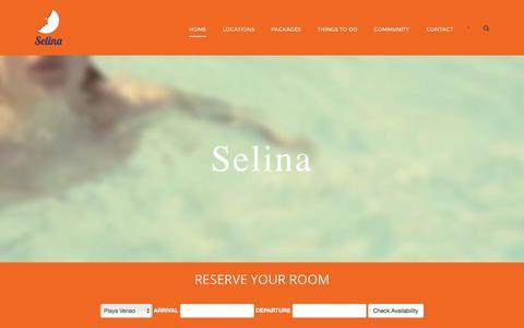 Screenshot of Home Page selinahostels.com - Selina Hostels in Panama - captured Jan. 12, 2016