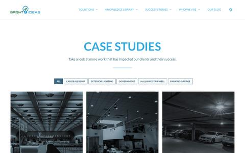 Screenshot of Case Studies Page youarebright.com - Case Studies | Bright Ideas - captured Nov. 23, 2016