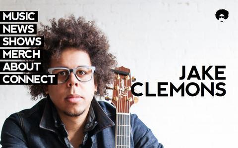 Screenshot of Home Page jakeclemons.com - Welcome - Jake Clemons - captured Jan. 31, 2017