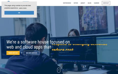 Screenshot of Home Page vimanet.com - Vimanet | Web and Cloud Software Development Poland and .NET Outsourcing - captured Nov. 6, 2017