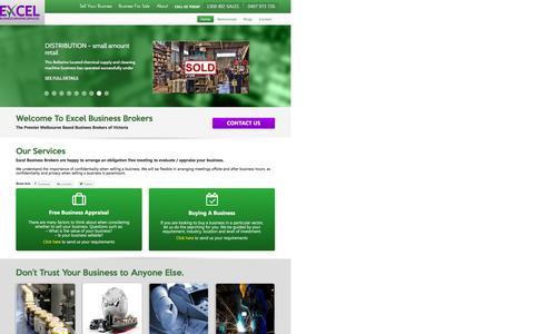 Screenshot of Home Page excelbbs.com.au - Business For Sale Melbourne, Sydney, Brisbane, Victoria, QLD - captured Nov. 12, 2016