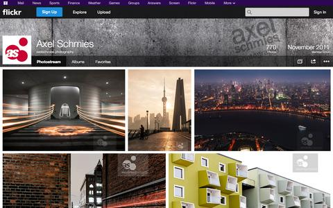 Screenshot of Flickr Page flickr.com - Flickr: axelschmies photography's Photostream - captured Oct. 23, 2014