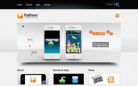 Screenshot of Home Page flatformgames.nl - FLATFORM GAMES STUDIO - captured Oct. 6, 2014