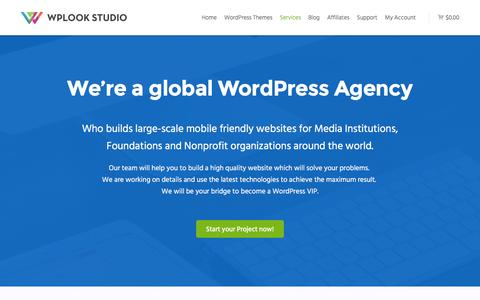 Screenshot of Services Page wplook.com - Hight Quality WordPress Development for Nonprofit - WPlook Studio - captured Dec. 5, 2015