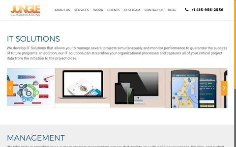 Screenshot of Team Page webjungle.com - Work · Jungle Communications, Inc. - captured Oct. 16, 2017