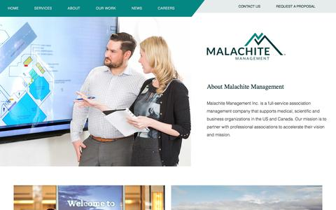Screenshot of About Page malachite-mgmt.com - About Malachite | Association Management | Conference Management - captured Oct. 5, 2017