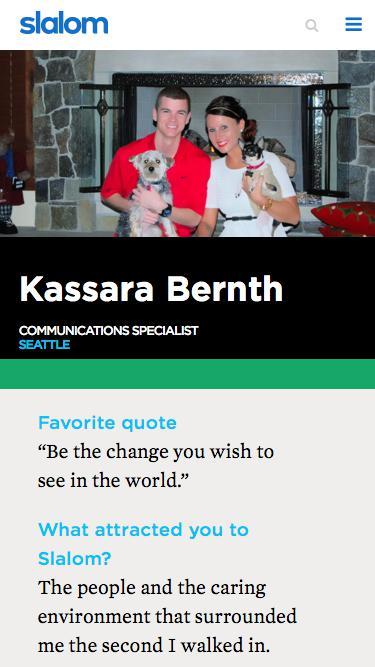 Screenshot of Team Page  slalom.com - Kassara Bernth | Slalom