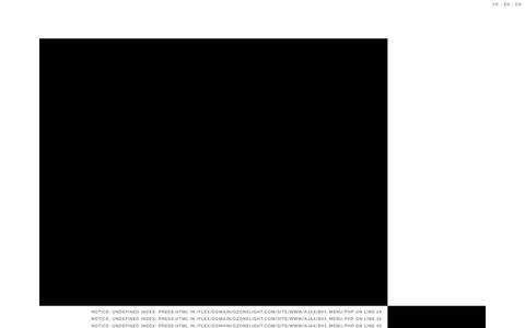 Screenshot of Press Page ozonelight.com - Ozone - captured Aug. 11, 2015